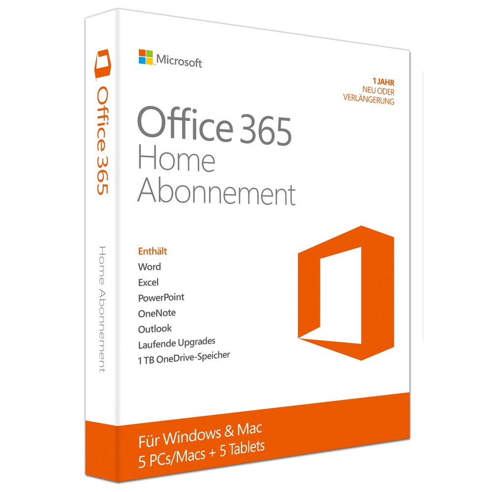 MICROSOFT Office 365 Home Box Pack