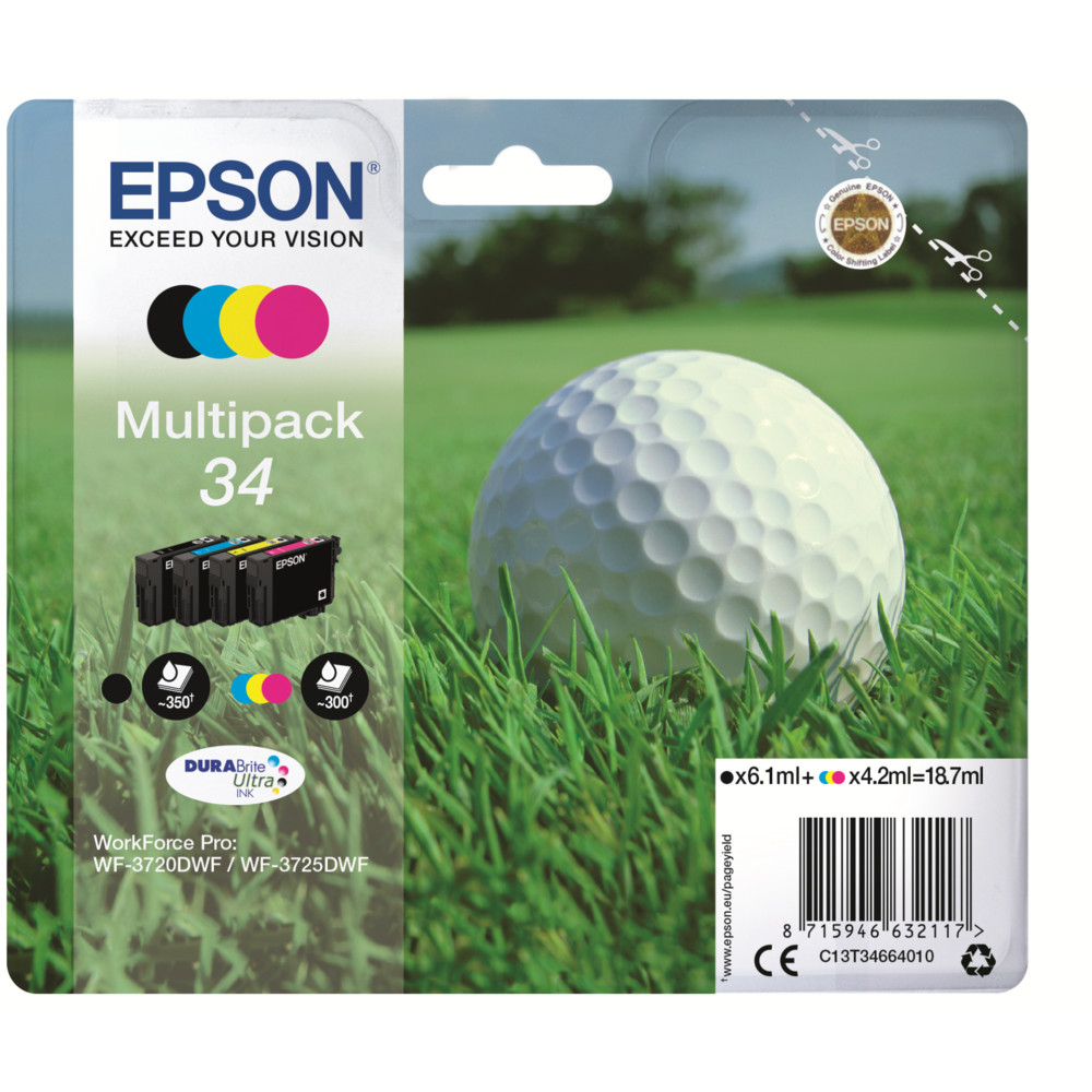 EPSON Multipack 4-colours 34XL DURABrite