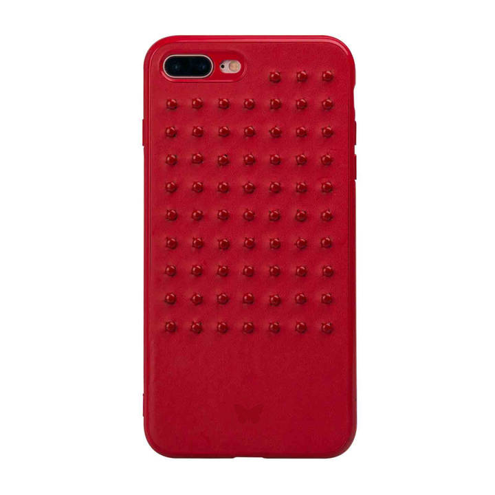 SBS Rivet Cover pour iPhone 8 Plus/7 Plus Rouge