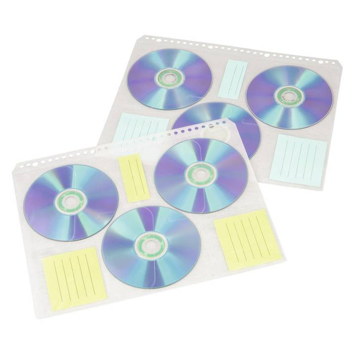 HAMA CD/DVD/BD index sleeves, A4 perforato, 10 pezzi