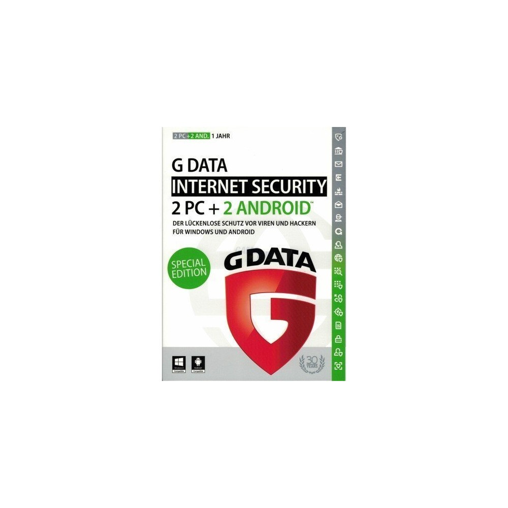 G-DATA Internet Security 2016 2+2 Swiss Edition