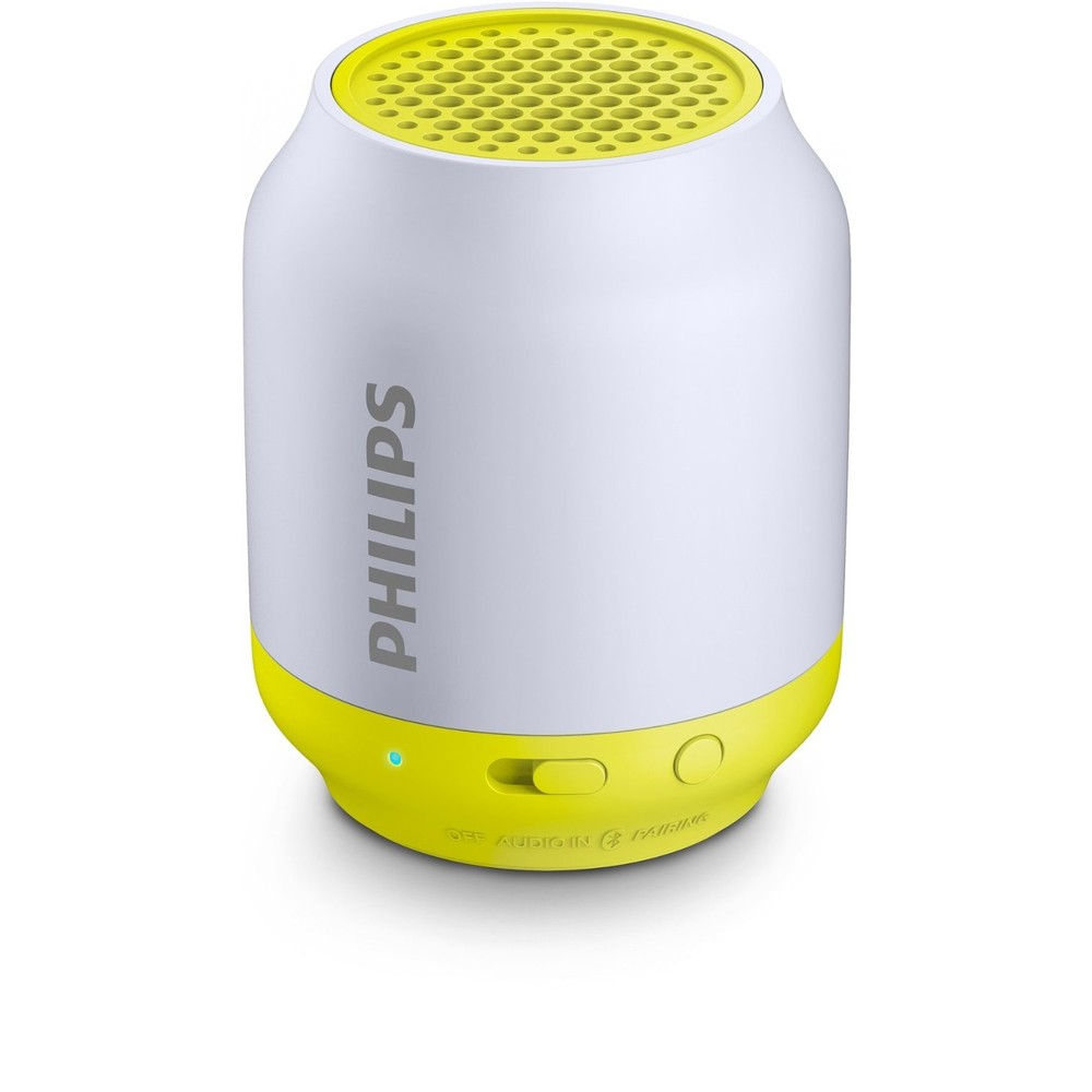 PHILIPS Bluetooth Lautsprecher BT50L/00 White/Yellow
