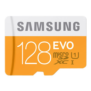 SAMSUNG EVO Micro SDXC 128 GB + Adapter