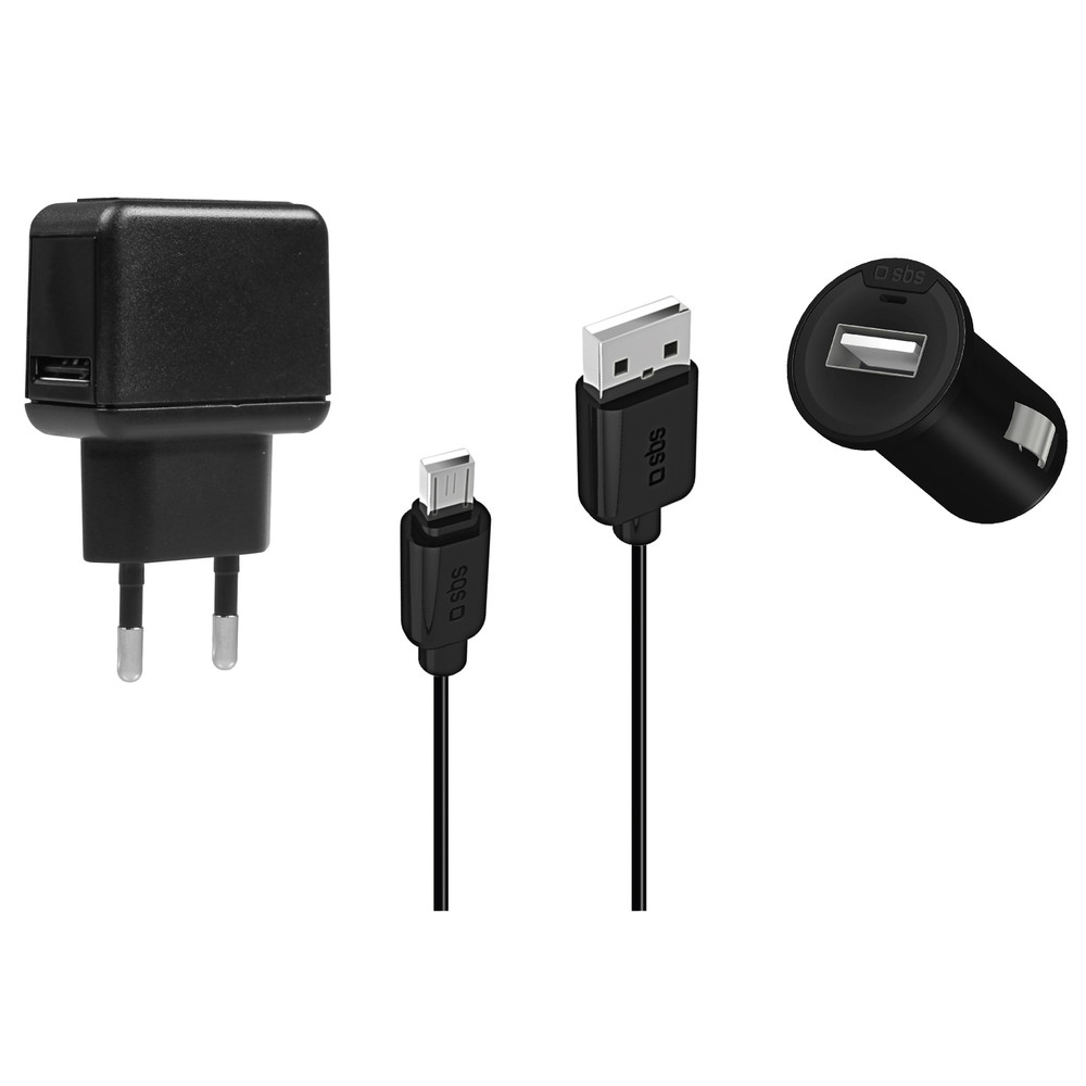 SBS 3-in-1 USB-Charger Set