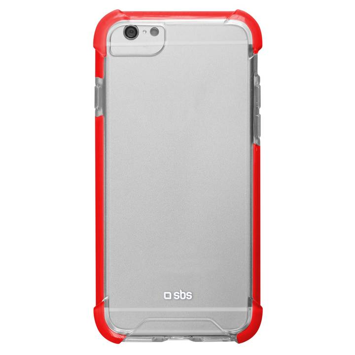 SBS Hard-Shock Cover für iPhone 7/8 Clear/Red
