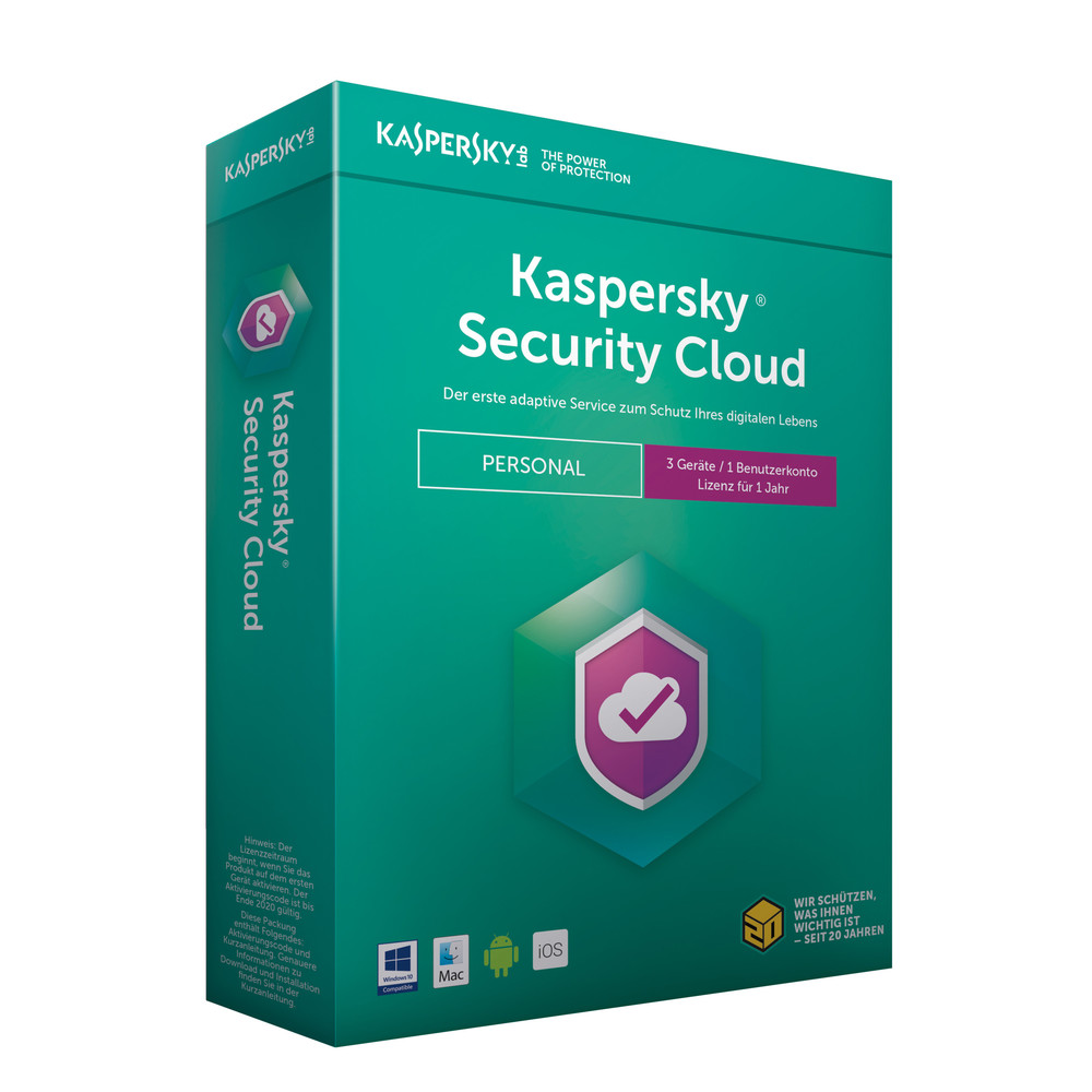 KASPERSKY Security Cloud Personal Edition 3 Geräte