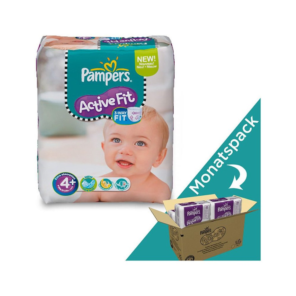 PAMPERS Windeln Active Fit Maxi Gr. 4+