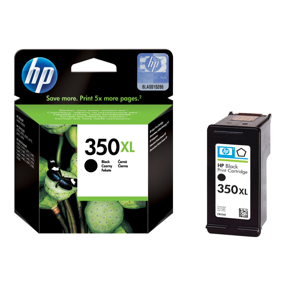 HP Ink Cartridge, 350XL, black