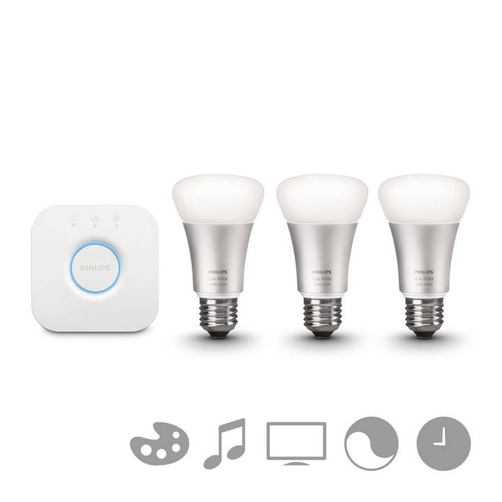 PHILIPS Hue Starter Kit White and Color Ambiance 9W E27