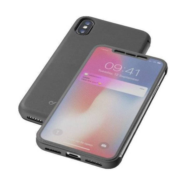 CELLULAR Book Touch-Cover für iPhone X Clear/Black