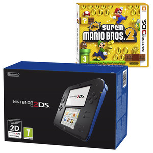 NINTENDO 2DS Black inkl. New Super Bros 2