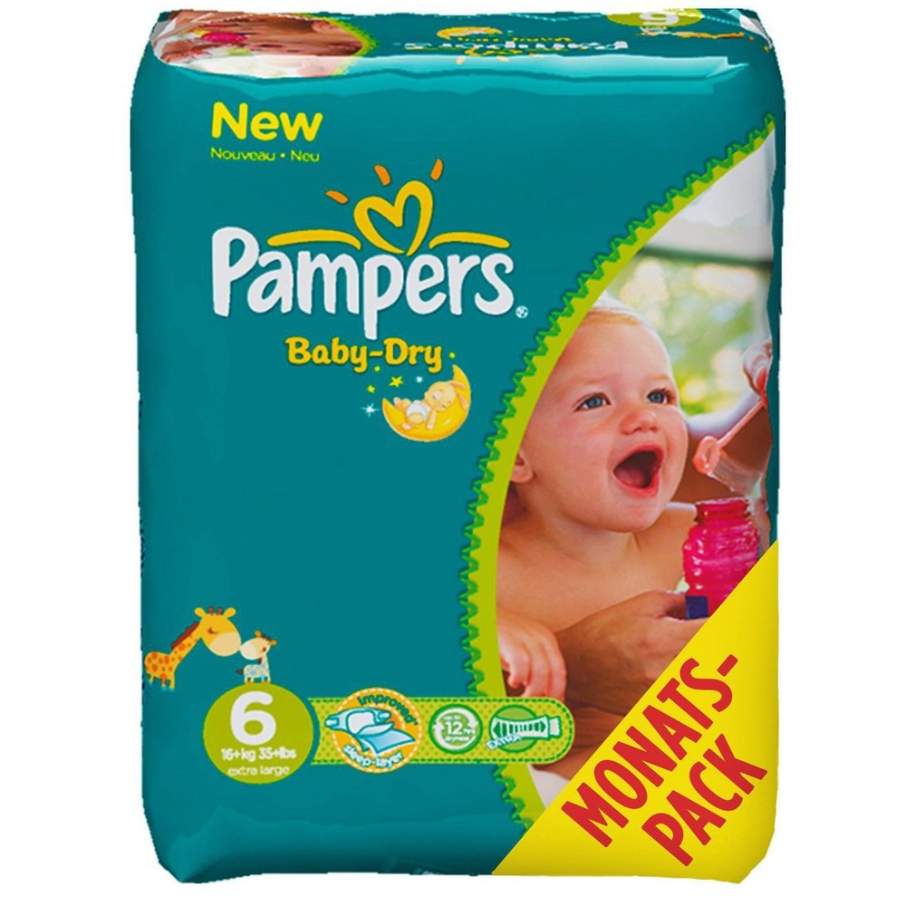 PAMPERS Windeln Baby Dry Extra Large Gr. 6
